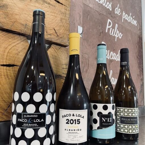 selecta carta de vinos en portonovo